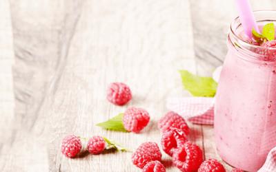 Smoothie de frambuesa para la diabetes