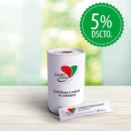 Canister a precio especial, producto natural para ayudar a reducir el colesterol: cardiosmile